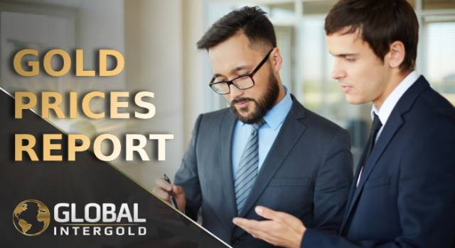 Gold prices report on September 10, 2018