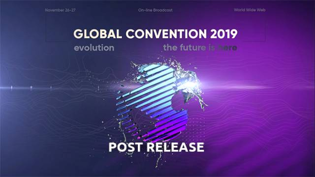 Global Convention 2019-Online: the frontier has been crossed, the future lies ahead!