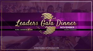 The Gala Dinner at the Global Convention 2018