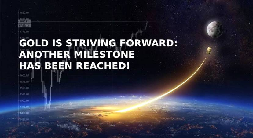 Gold is striving forward: another milestone has been reached!