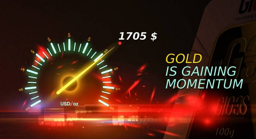 On the threshold of change: gold is gaining momentum
