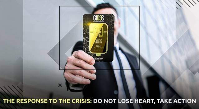 The response to the crisis: do not lose heart, take action
