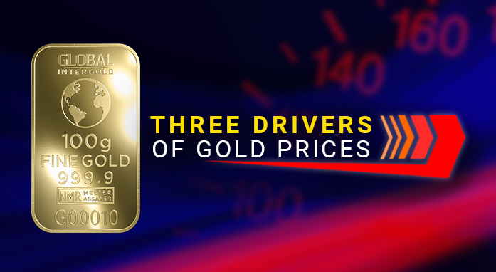 Experts: three drivers of gold prices