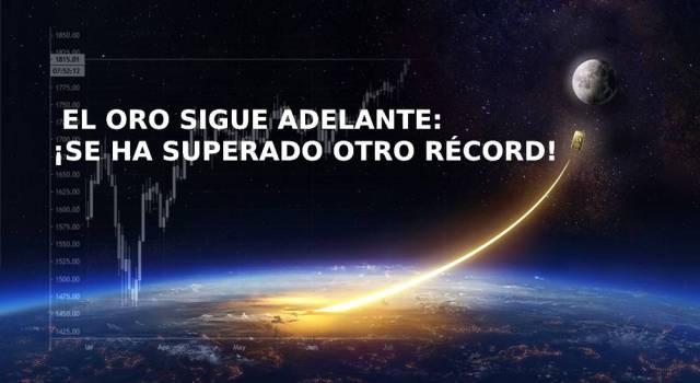 El oro sigue adelante: ¡se ha superado otro récord!