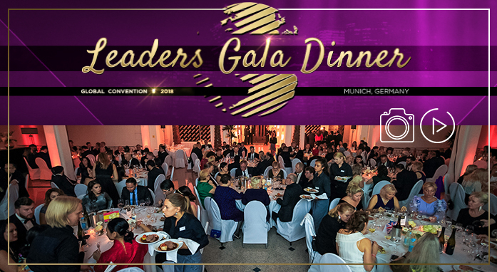 [FOTO E VIDEO] GLOBAL CONVENTION 2018 – Cena di Gala con i Leader