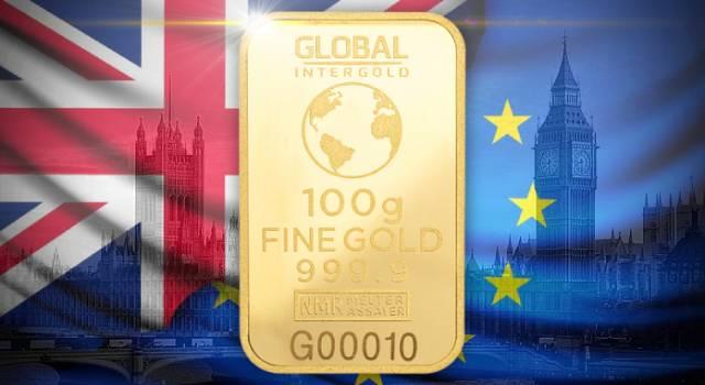 El Brexit se acerca: ¿salvará el oro al Reino Unido?