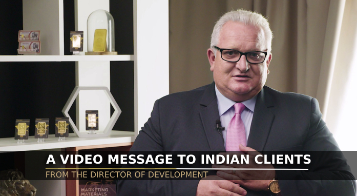 A video message from the Development Director to Indian clients