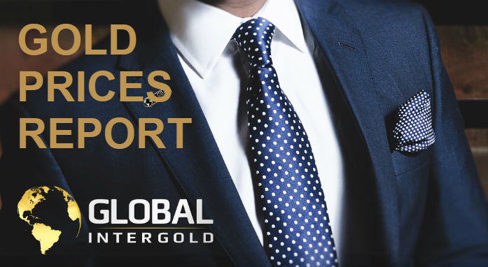 Gold prices report on September 17, 2018