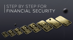 Why is the sequence of actions important in building financial security?