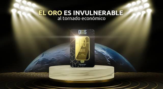 El oro es invulnerable al tornado económico