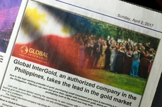 Global InterGold featured in one of the Philippines' most influential national newspapers!